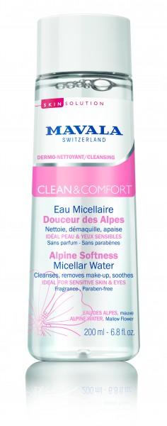 Mavala Clean & Comfort Sanftes Alpen Mizellarwasser, 200 ml