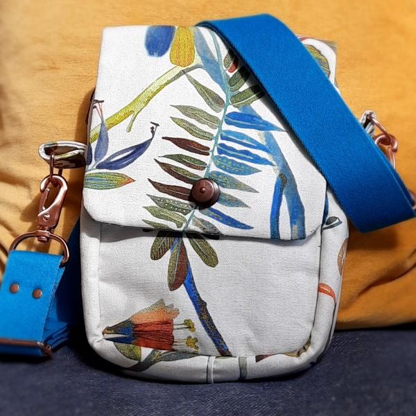 Handy - Umhängetasche - Tropisches Blumenmuster