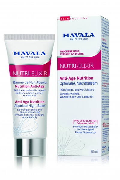 Mavala NUTRI-ELIXIR Anti Age Nutrition - Optimales Nachtbalsam, 65 ml