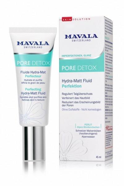 Mavala Pore Detox Hydra-Matt Fluid Perfektion Vegan, 45 ml