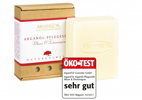 "Argand`or cosmetic Arganöl Pflegeseife, ""Minze & Zitronengras"", 100 g"