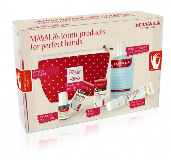 Mavala Red Dots Jubiläumsangebot 60er Jahre Kosmetiktasche